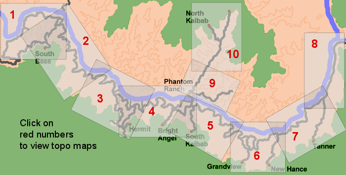 Map of canyon